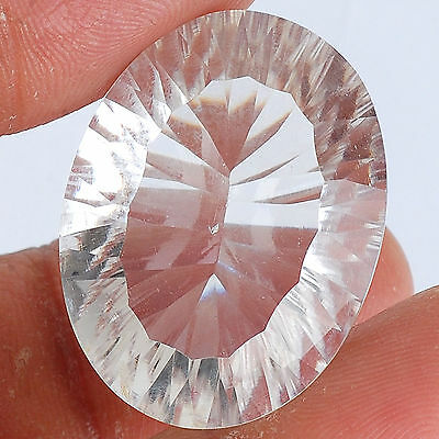 VVS 45.86 Cts AAA Natural White Quartz Concave Cut Untreated Huge Gemstone