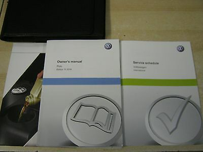 Vw Polo Handbook Pack Owners Manual 2012-2016 And   Service Book