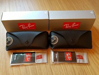 Ray Ban Two Black Sunglasses Cases Cloths & Boxes Included
