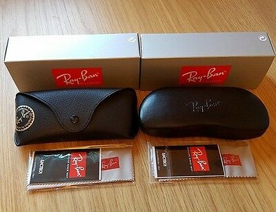 Ray Ban Black Case & Black Hard Sunglasses Case Cloths & Boxes Included