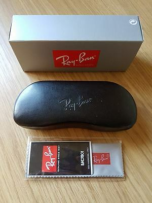 Ray Ban Sunglasses Black Hard Case Cloth & Box Included
