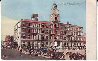 South Africa Johannesburg - General Post Office GPO 1907 postcard