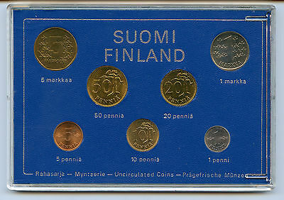 Finland 1974 Official Coin Mint Set KMS UNC High Condition !!!