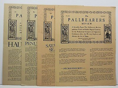 Lot 4 Vintage Issues PALLBEARERS REVIEW Magic Newsletter Karl Fulves Magazine P6