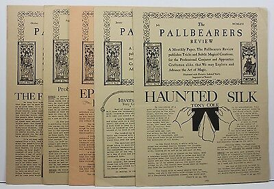 Lot 5 Vintage Issues PALLBEARERS REVIEW Magic Newsletter Karl Fulves Magazine P5
