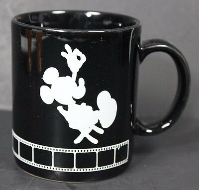 Walt Disney Studios Mickey Mouse Mug Cup Black Silhouette Director Chair Film