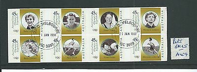 wbc. - AUSTRALIA - A44 - PART BOOKLET - SELF ADHESIVE - OLYMPIC LEGENDS  - used