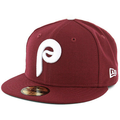 "New Era 5950 Philadelphia Phillies ""1975 Cooperstown"" Fitted Hat (Cardinal) Cap"