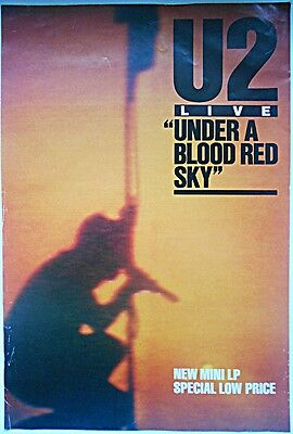 U2 Under A Blood Red Sky Rare Original 1983 Official Uk Record Company POSTER
