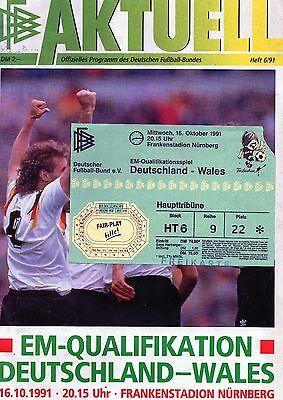 Ryan Giggs International Debut 16th of October 1991 Germany v Wales superb + Tkt