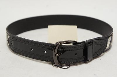 "BURBERRY  CHECK PRINT PATENT LEATHER BELT SIZE 22""/55cm"