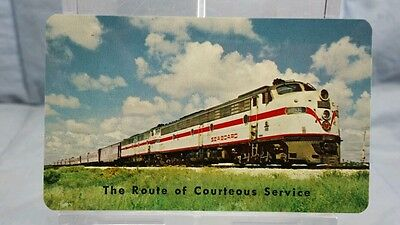 Vintage Advertising Pocket Wallet Calendar Card: 1966 SEABOARD AIR LINE RAILROAD