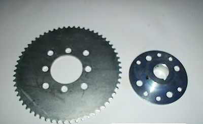 "Go KART SPROCKET MINI  HUB 1"" bore 1/4"" keyway 60 sprocket #35 FREE FAST SHIP!!"