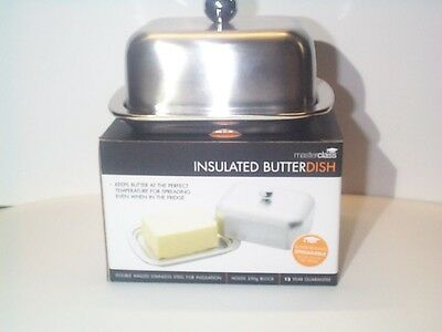 Masterclass Butter Dish Insulated Mcbutins Double Walled