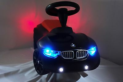 bmw racer iii 3 baby racer mit led licht nebellicht akku rutscherfahrzeug schw eur 159 00. Black Bedroom Furniture Sets. Home Design Ideas