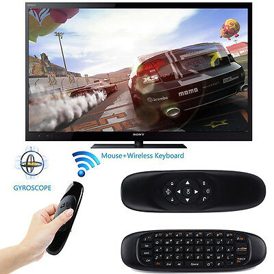Wireless 2.4GHz Keyboard Air Mouse Remote Control For Android TV Box MXQ Black