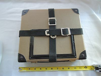 Vintage Film Reel Delivery - Storage Shipping Case / Box with Straps and Handle