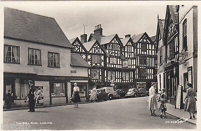 Postcard Ludlow Shropshire animated The Bull Ring old RP by Walter Scott