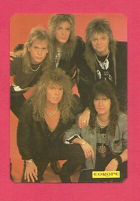 Europe Music Collectible Card 1987; Hard Rock; Heavy Metal; Glam; Blues Rock;