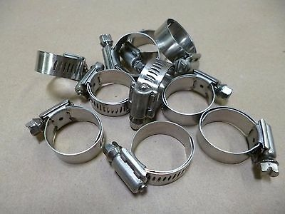 "10Pk Breeze 9410 Stainless Aero-Seal Liner Clamps / Hose Clamps 9/16"" - 1-1/16"""