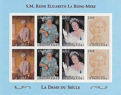 (70790) Togo MNH Queen Mother Lady of the Century minisheet unmounted mint