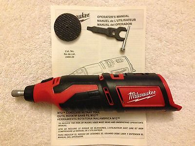 New Milwaukee 2460-20 12V Volt M12 Cordless Rotary Tool With Accessories