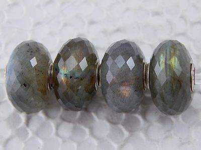 AUTHENTIC TROLLBEADS Labradorite Bead 80104 Faceted Stone BEAD #2 (ONE) NEW!