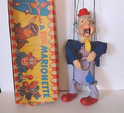 Mr Bluster Marionette 1950's W/box Howdy Doody Friend