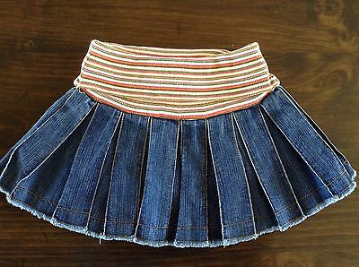 The Children's Place DENIM PLEATED SKORT Size 6 EUC Free Shipping