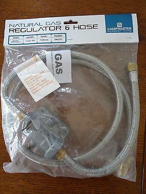 Natural Gas Regulator And Braided Hose Bayonet Fitting Bbq Barbeque Connector