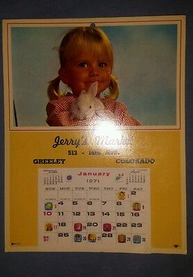 Jerry's Market 1971 calender Greeley, Colorado
