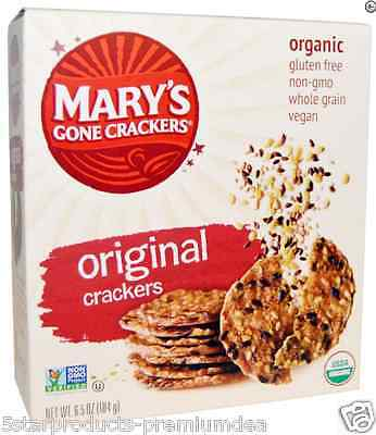 8 PACKS x MARY'S GONE CRACKERS ORGANIC SUPER SEED GLUTEN WHEAT FREE VEGAN 0g FAT
