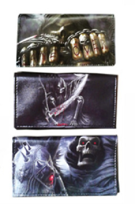 Skull Print PU Tobacco Pouch fit 25g Cigarette Rolling Papers