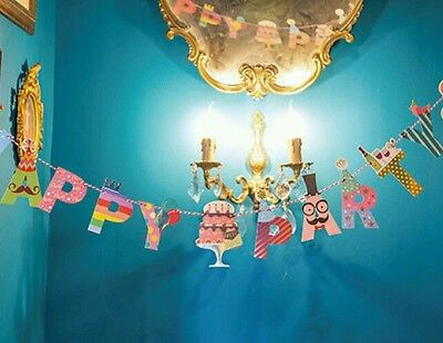 Happy Party Flag Sets Bunting Banner