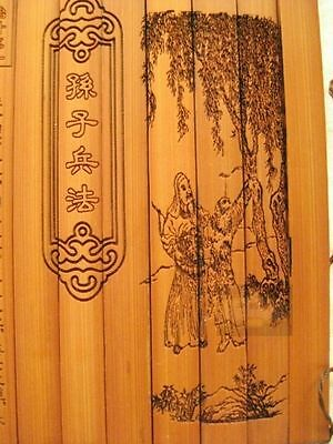 """Classical Bamboo Scroll Slips famous Book"""" the art of war"""" English and Chinese"""
