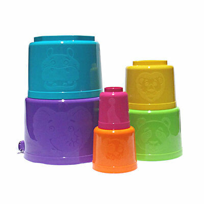 Tupperware NEW Totem Pails Set Stacking Bucket 6 Pce Educational and Practical!