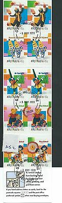 wbc. - AUSTRALIA - A52 - BOOKLET PANE - CHILDRENS TELEVISION - used