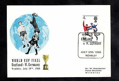 1966 Football World Cup England v Germany Postal Cover Soccer Stamp Wembley