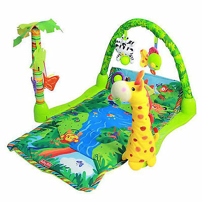 Baby Gift Rainforest Musical Lullaby Baby Activity Play Gym Toy Soft Mat