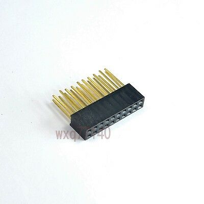 10pcs 2.54mm 2x10 20pin Double Row Female stackable Straight Header socket Strip