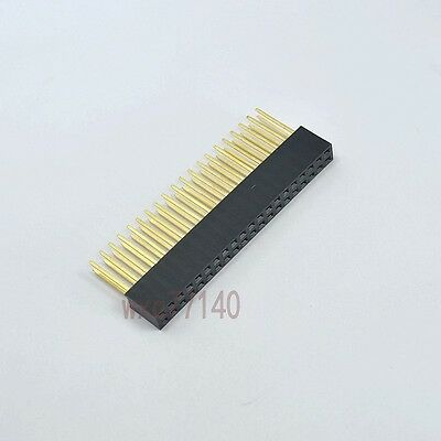 5pcs 2.54mm 2x20 40 pin Double Row Female stackable Straight Header socket Strip