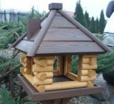 Brand NEW Feeding Wood House Station Garden Wooden Traditional Bird Table
