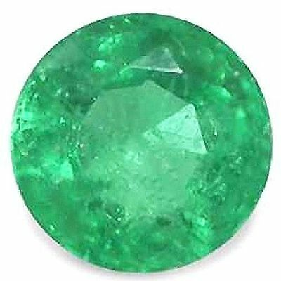 NATURAL COLOMBIAN LOVELY GREEN EMERALD LOOSE GEMSTONE (3.3 mm) ROUND SHAPE