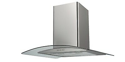 Saga EH70GS 70cm Stainless Steel Glass Kitchen Extractor Hood
