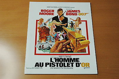 James Bond Roger Moore The Man With The Vintage Golden Gun 1974 Rare Synopsis