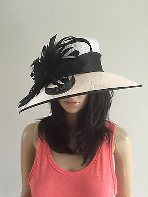 White Black Wedding Hat Occasion Formal Mother Of The Bride
