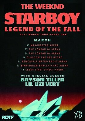THE WEEKND Starboy: Legend of the Fall 2017 UK Tour PHOTO Print POSTER Shirt 13