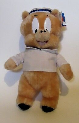 """Vintage 14"""" Porky Pig Plush WITH TAGS Dressed as US Navy Sailor Retired 1998 NWT"""