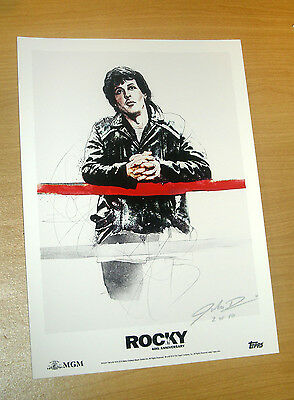2016 Topps 40th Anniversary Rocky Leaning on a Fence Fine Art Print 3 of 10