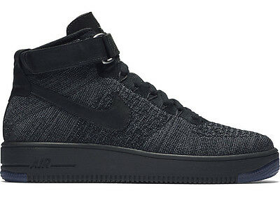 NIKE AIR FORCE 1 ULTRA FLYKNIT MID DARK GREY/BLACK AF1 Gr.41 44,5 low 817420-001
